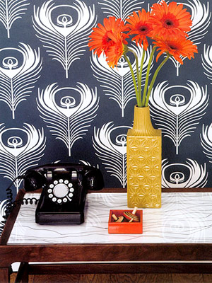 vase and phone