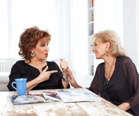 Joy Behar and Barbara Walters