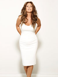 Valerie Bertinelli in white dress