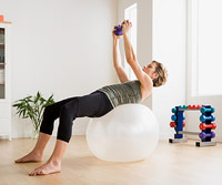 Woman doing strength exercises