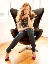 Nicole Kidman sitting in chair
