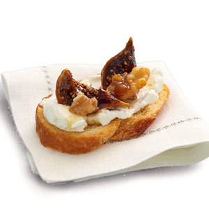 Honeyed Figs, Nuts and Goat Cheese
