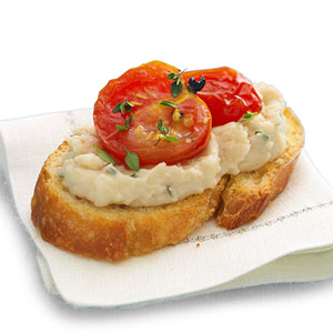 Bean Puree with Roasted Tomato