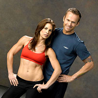 Jillian Michaels and trainer