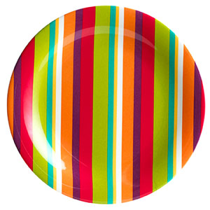 Striped Plastic Plate