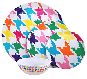 Houndstooth Plastic Plate