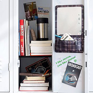 Plaid Locker Organizer
