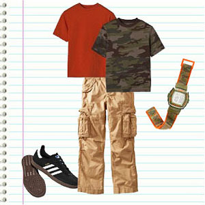 Elementary School Boy's Outfit
