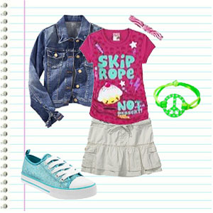 Elementary School Girl's Outfit