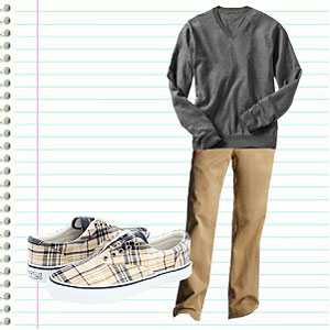 High School Boy's Outfit