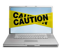Caution on laptop