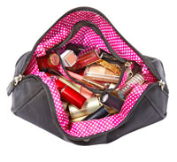 Debbie Simmons makeup bag before