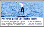 Yahoo paddle-boarding story