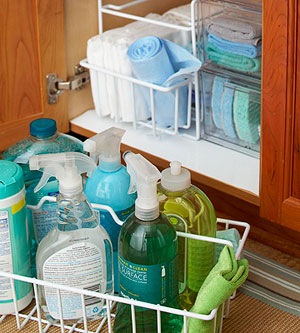 Under the sink cabinet