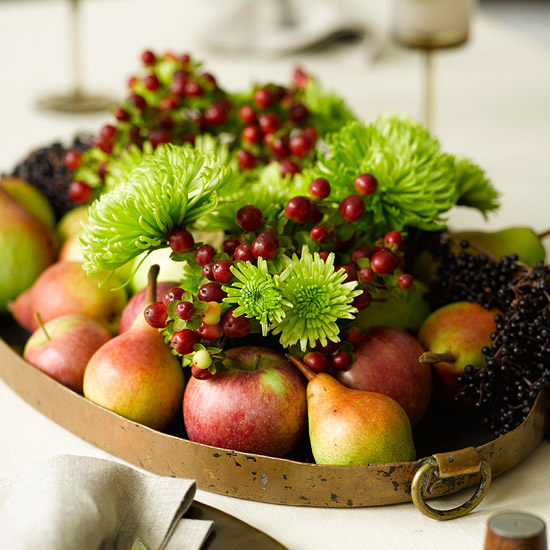 Thanksgiving decor inspiration the natural socialite for Decoration fruit
