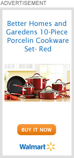 Better Homes & Gardens 10-Piece Porcelin Cookware Set - Red