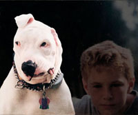 Dog and boy