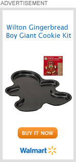 Wilton Gingerbread Boy Giant Cookie Kit