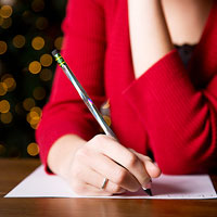 woman writing lists