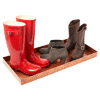 Zebra-embossed boot tray