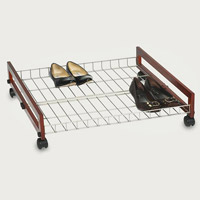 Under-bed rolling shoe rack