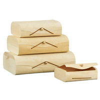 Birch storage boxes
