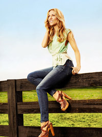 Sheryl Crow on fence