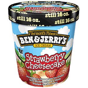 Ben and Jerry?s Strawberry Cheesecake