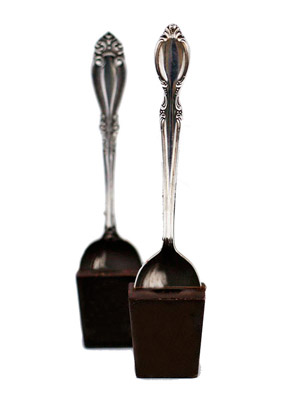 silver-plated hot-chocolate spoons