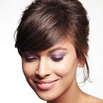 Model with purple eyeshadow
