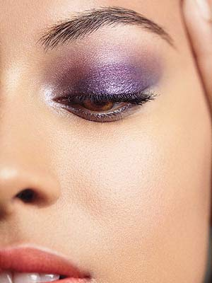 Model with dark purple shadow