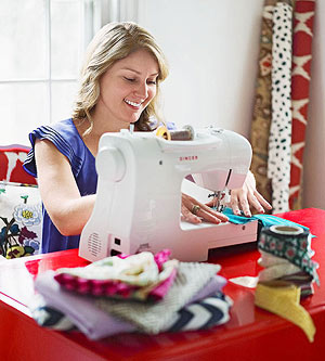 Kim Frazier sewing