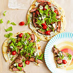 Steak on flatbread