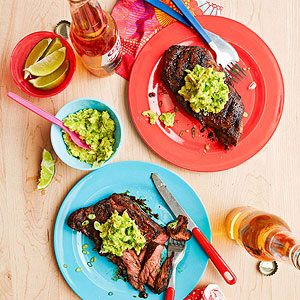 Steak and avocado butter