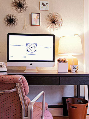 A chic workspace