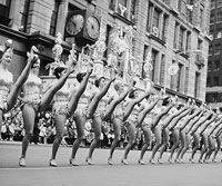 This goofy vintage photo of the Rockettes in action made us smile.