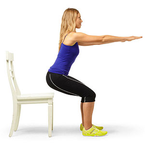 Chair squat