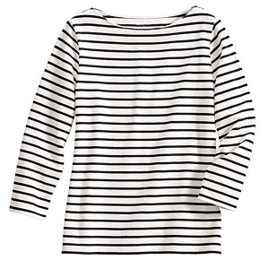 navy-and-white-striped T-shirt