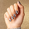 Peel and stick nail art