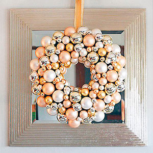 Metallic Ornament Wreath