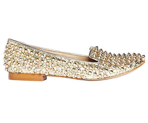 Gold-studded smoking slippers