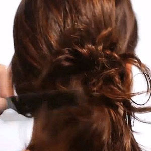 Messy Bun Step 2
