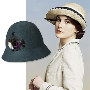 Mary in cloche hat, cloche hat