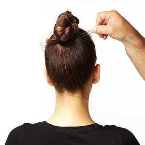 Braided top knot step 5
