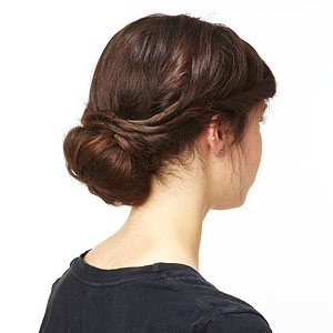 Twisted chignon step 13