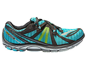 Brooks teal and green running shoes