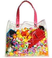 Clear bag of candy