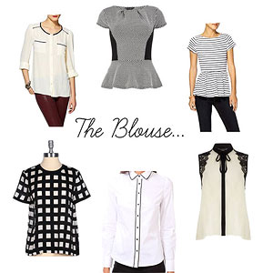 Black and White Blouses