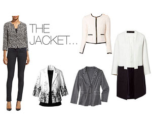 Black and white jackets