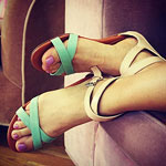 Rebecca Minkoff mint sandals